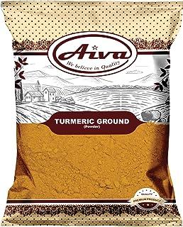 AIVA Turmeric ( Haldi ) Root Ground Powder Spice, (High Curcumin Content) All Natural Pure, Salt Free | Vegan | NON-GMO | ...