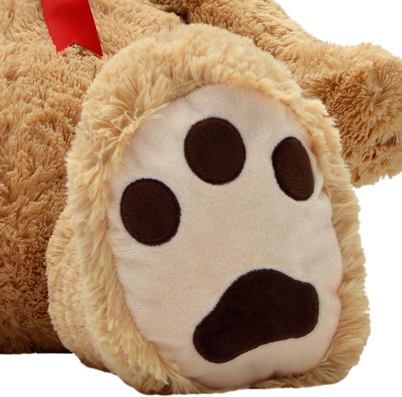 Pink Papaya Riesen Kuschel-Hund Lucy, 100cm XXL Plüsch-Hund in Hellbraun, Stoff-Hund, Teddybär zum Liebhaben Toys Hell-braun, 100 Cm , Monti