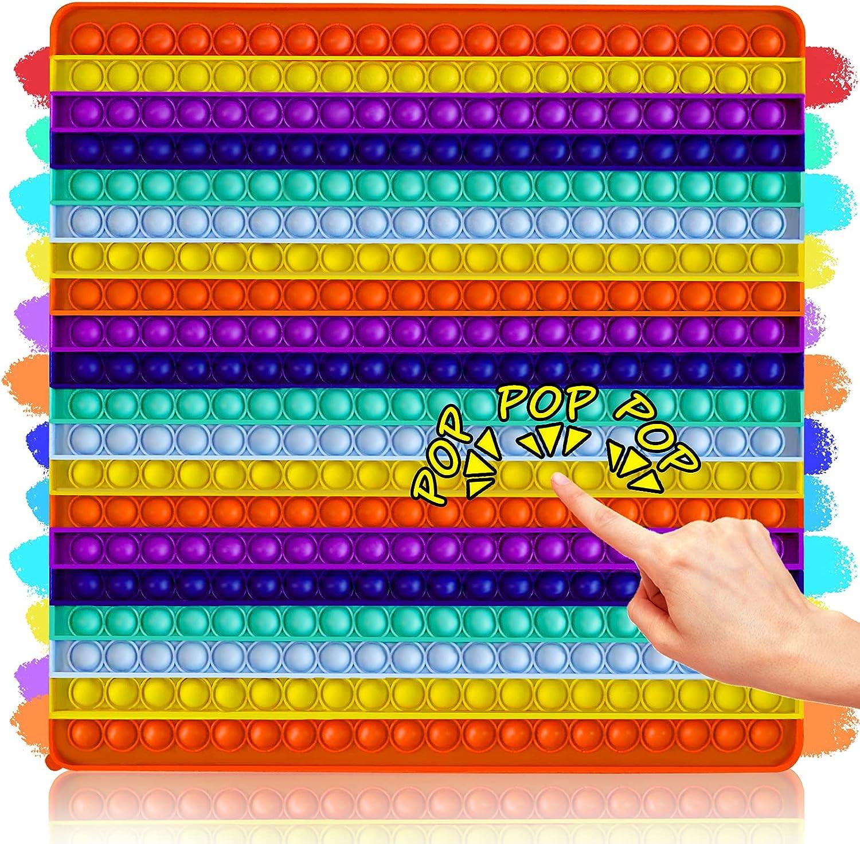 Big Surprise price Size Cheap mail order shopping Super Jumbo Push Pop Toy Fidget Bub Sensory Bubble 400