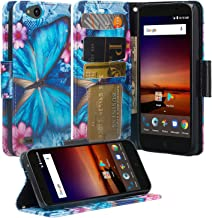 Zte Blade Vantage Case, Zte Tempo X Case, Microseven Luxury Pu Leather Wallet Flip Protective Case Cover with Card Slots a...