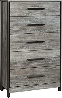 Signature Design by Ashley Cazenfeld Chest of Drawers, Black/Gray