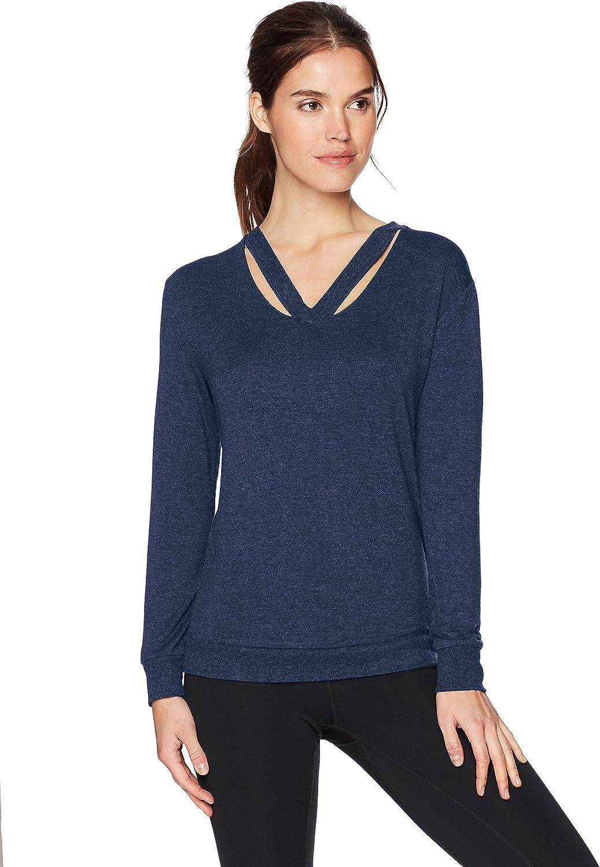 Marc New York Performance Womens Long Sleeve Cold Clavical Sweatshirt Sweatshirt