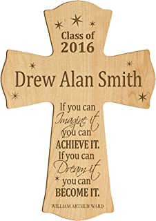 LifeSong Milestones Personalized Wall Cross Graduation Gifts If You can Imagine it You can Achieve IT if You can Dream it You can Become IT (8.5