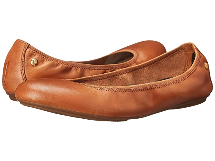Hush Puppies  Chaste Ballet (Cognac Leather) Womens Flat Shoes