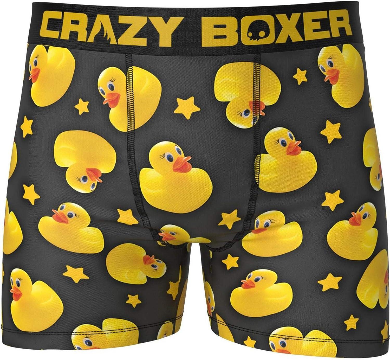 NEW CRAZY BOXER Shamrock RUBBER Lucky DUCKY Black Boxer Briefs Mens Small