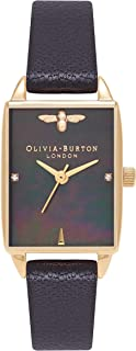 Olivia Burton Bee Hive Dial Watch for Women, analog, Leather Band - OB16BH02