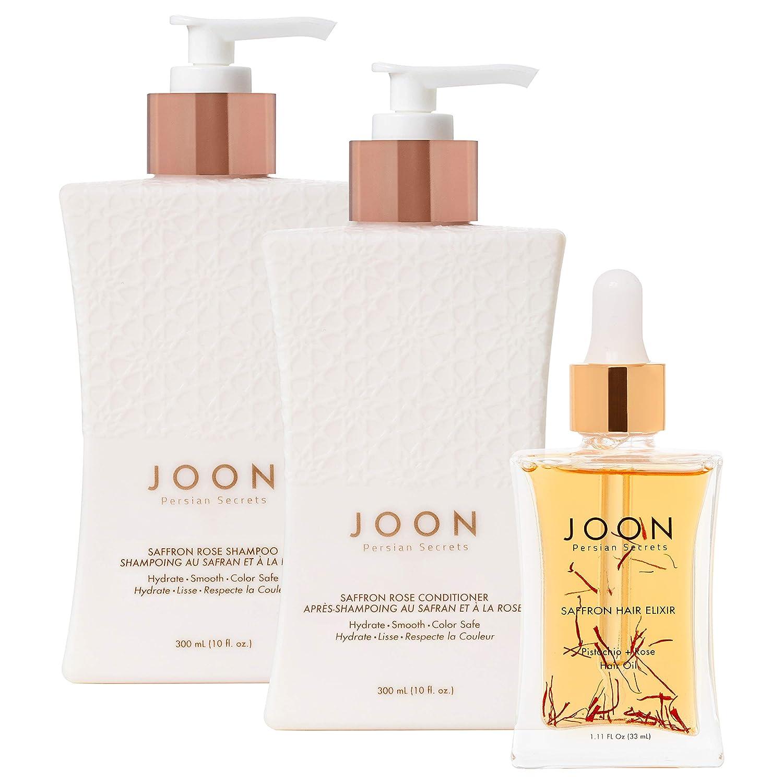 Joon Moisturizing Trio Set | Saffron Hair Elixir, Saffron Rose S