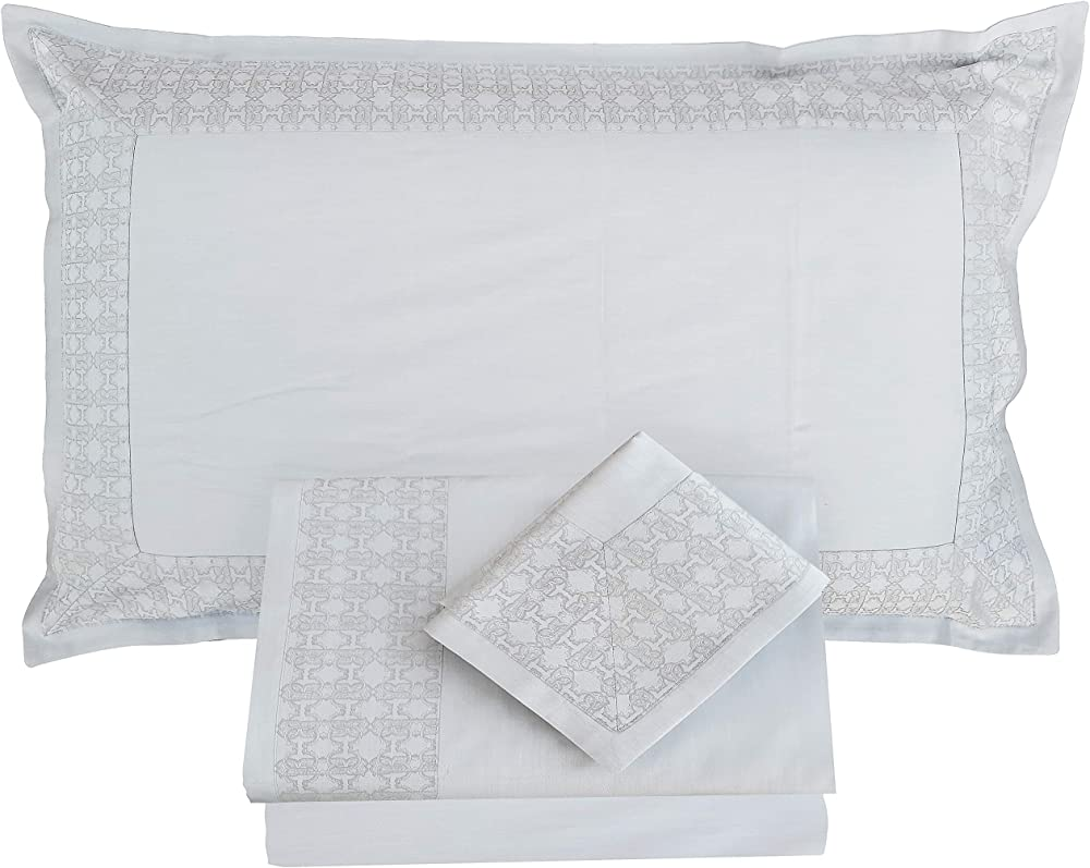 Roberto cavalli, lenzuola completi per letto matrimoniale,100% raso di puro cotone