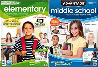 Advantage Elementary / Middle School Student Resource Centers - Grade School Learning Software Bundle