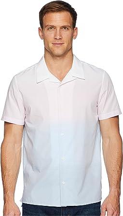 Calvin Klein Short Sleeve Ombre Camp Shirt