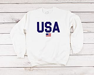 USA sweatshirt fourth of July red white and blue America top