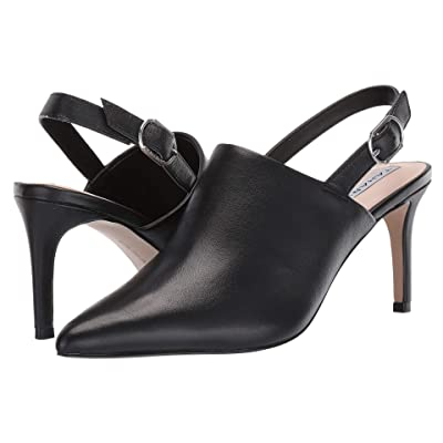 Tahari Pierrette Slingback Pump (Black Leather) Women