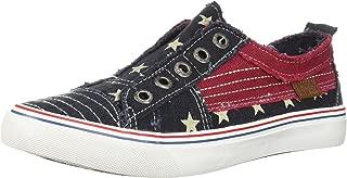 Blowfish Women's Play Sneaker, Navy Star, 7.5 M US