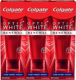 خمیر دندان سفید کننده دندان های تمدید کننده کالگیت اپتیک ، سفید با تأثیر زیاد (3 تعداد لوله های 3 اونس) ، 9 اونس