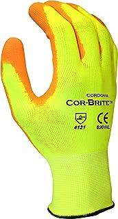 Cordova Safety Products 6901X-Large Hi-Viz Yellow Polyester Gloves with Orange PU Coating, Extra Large