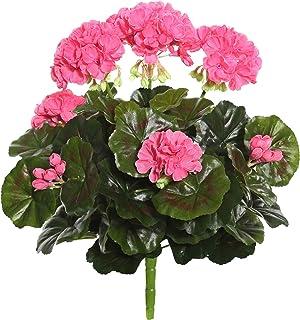 "Vickerman Everyday Artificial Pink Geranium Bush 15.25"" Long - Premium Faux Floral Decor for Wedding or Everyday Arrangeme..."