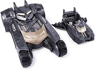 Batman and 2-in-1 Transforming Vehicle, For Use with 4-Inch Action Batmobile y Batboat 2-en-1 vehículo Transformador, para Uso con Figuras de acción 4 Pulgadas, Color Negro (Spin Master 6055952-1)