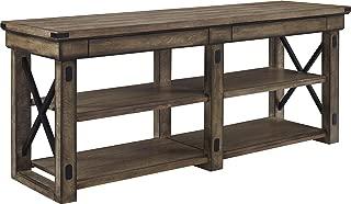 Ameriwood Home Wildwood Wood Veneer TV Stand for TVs up to 65