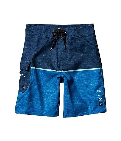 Rip Curl Kids Dawn Patrol Boardshorts (Big Kids) (Blue) Boy
