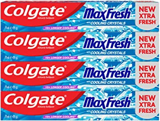 Colgate Max Fresh Cool Mint Gel Toothpaste – 4 x 75ml