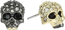 Mismatch Skull Stud Earrings
