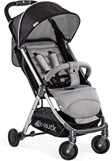 Hauck - Fun for Kids Swift Plus, Compact Stroller with Extra Small Folding, One Hand Fold, Lightweight, Carrying Strap, from 6 Months up to 25 kg, Silver/Charcoal