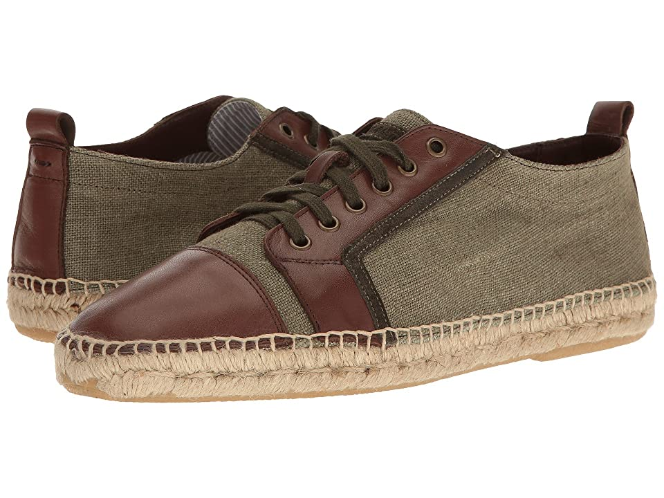Michael Bastian Gray Label Rey Low Top (Olive Noir) Men's Lace up casual Shoes