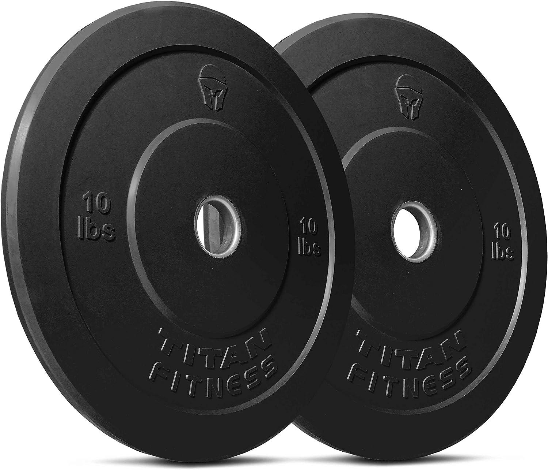 Titan Fitness Pair 10 lb Olympic Bumper Plate