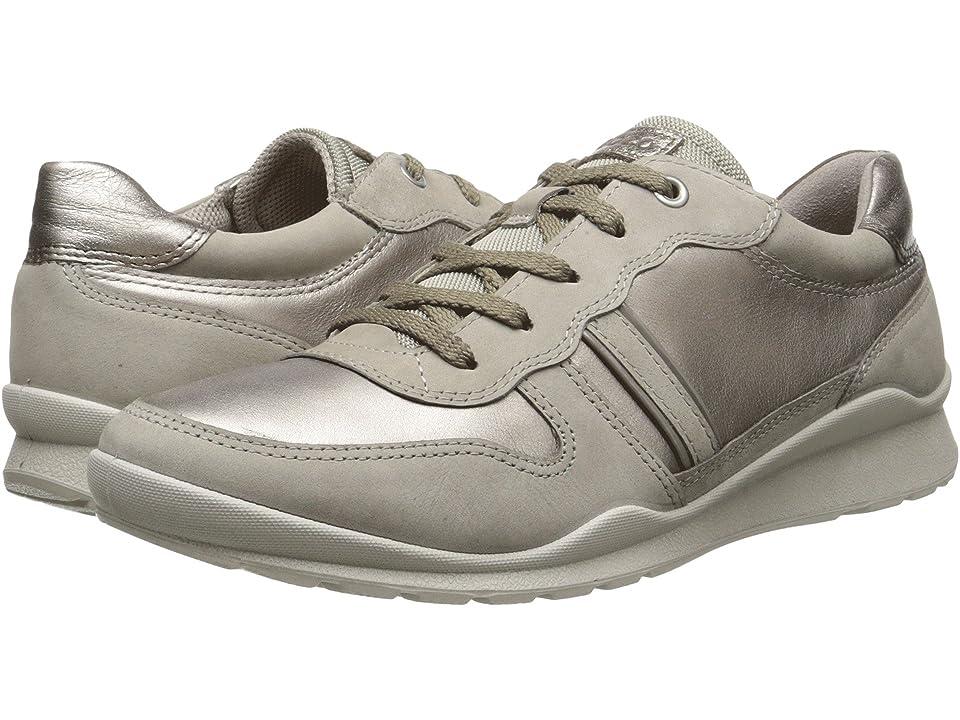 ECCO Mobile III Premium Sneaker (Moon Rock/Moon Rock/Warm Grey/Warm Grey Metallic) Women