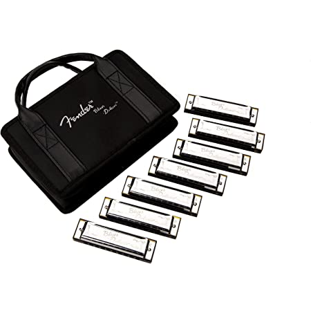 Fender Blues Deluxe Harmonica, 7-Pack with Case