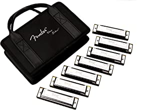 Fender Blues Deluxe Harmonica، 7-pack with Case