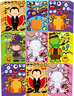 42 Sheets Halloween Party Games Stickers for Kids Make Your Own Halloween Stickers, Kids Halloween Activities Stickers Pum...