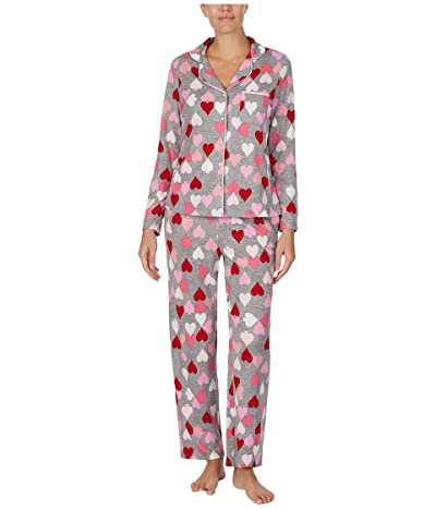 Kate Spade New York Brushed Sweater Knit Pajama Set (Heart Spade) Women