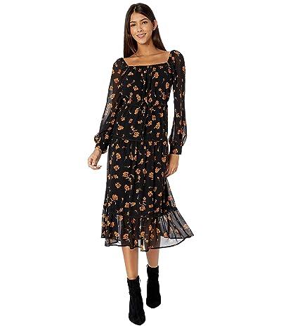 ASTR the Label Padma Dress (Black Amber/Floral) Women
