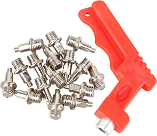 RAHATA 16 Pieces 1/4 inch 3/8 inch 1/2 inch Stainless Steel Cross Country Spikes Replacement Track and Field Spikes with Wrench