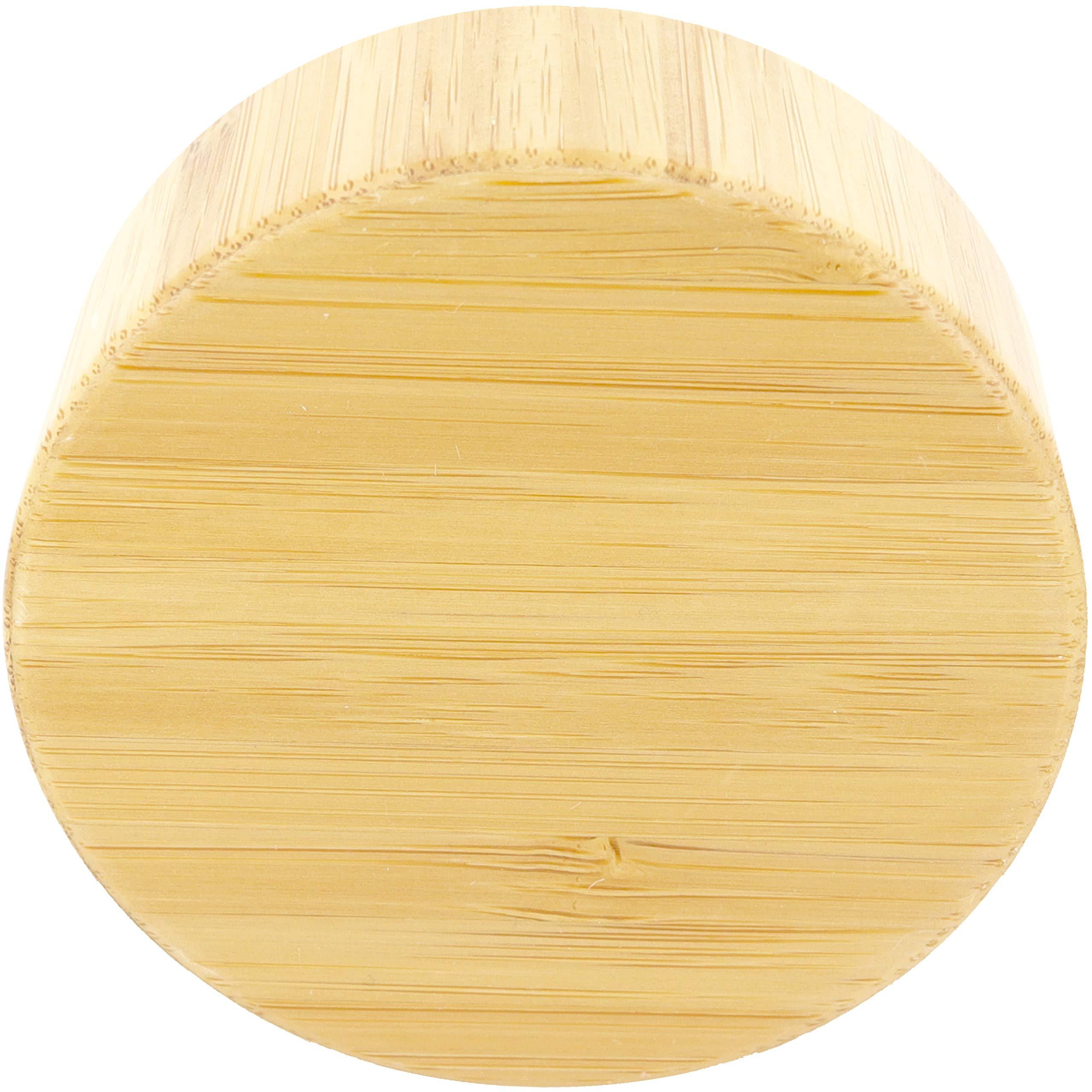 Tetera Botella de Vidrio amapodo Cierre de Tapa de Repuesto de bamb/ú para Botella de Agua