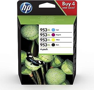 comprar comparacion HP 953XL 3HZ52AE, Negro y Tricolor, Cartuchos de Tinta de Alta Capacidad Originales, Pack de 4, compatible con impresoras ...