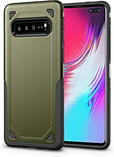 Samsung Galaxy S10 5G Case,AI lulu Full Body Shockproof Protective Phone Case Cover Anti-Drop with Bumper Frame Compatible Samsung Galaxy S10 5G (Green)