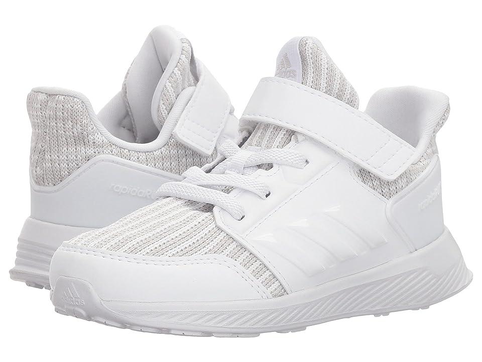 adidas Kids RapidaRun Knit (Toddler) (Grey/White) Kids Shoes
