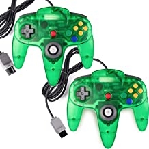 2 Pack Classic Controller for N64 Gaming, miadore Wired Retro Game Pad Joystick Remote Joypad for N64 Video Game System N6...