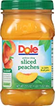 DOLE Sliced Yellow Cling Peaches in 100% Fruit Juice, 23.5 Ounce Jar