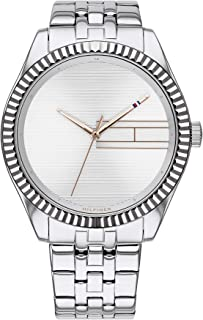 Tommy Hilfiger 1782080 Womens Quartz Watch, Analog Display and Stainless Steel Strap, Silver