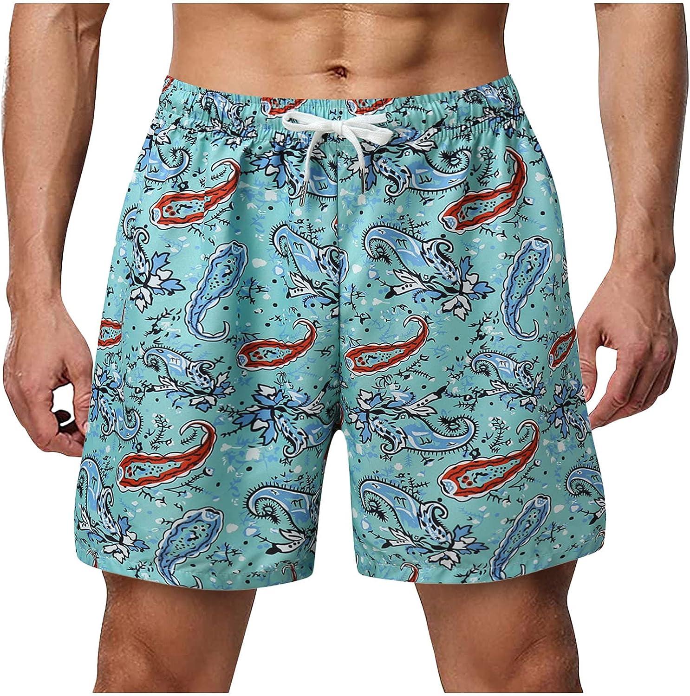 Hawaiian Swim Trunks Beach Shorts Fashion 3D Printed Swim Shorts Casual Drawstring Boardshorts Bathing Suits Swimwear