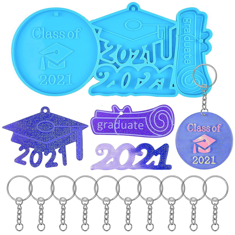 EBANKU shop Graduation Keychain Bargain sale Silicone Mold Class 2021 Graduati of