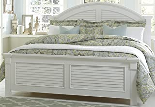 Liberty Furniture INDUSTRIES 607-BR-KPB Summer House I Panel Bed, King, Oyster White