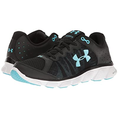 Under Armour UA Micro G(r) Assert 6 (Black/White/Venetian Blue) Women