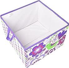 Bacati Botanical Storage Box, Purple, Large
