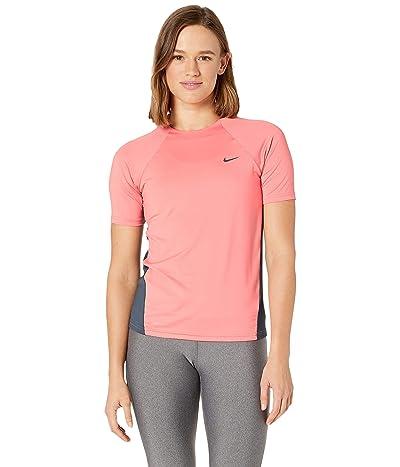 Nike Solid Short Sleeve Hydroguard (Pink Gaze) Women