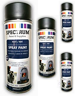 Pintura en aerosol barniz acrílico 400 ml negro mate resistente al calor 800 C