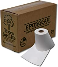 EPOSGEAR 57 x 40 mm Thermal PDQ Receipt Paper Rolls - for Worldpay, Ingenico, Verifone and More Credit Card Machines and Streamline Terminals - BPA Free (20)